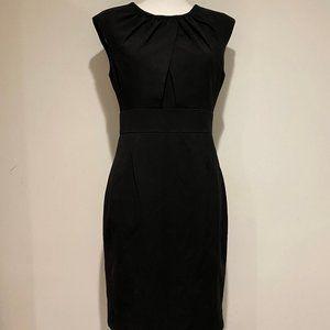 Calvin Klein Fitted Sleeveless Midi Dress in Black